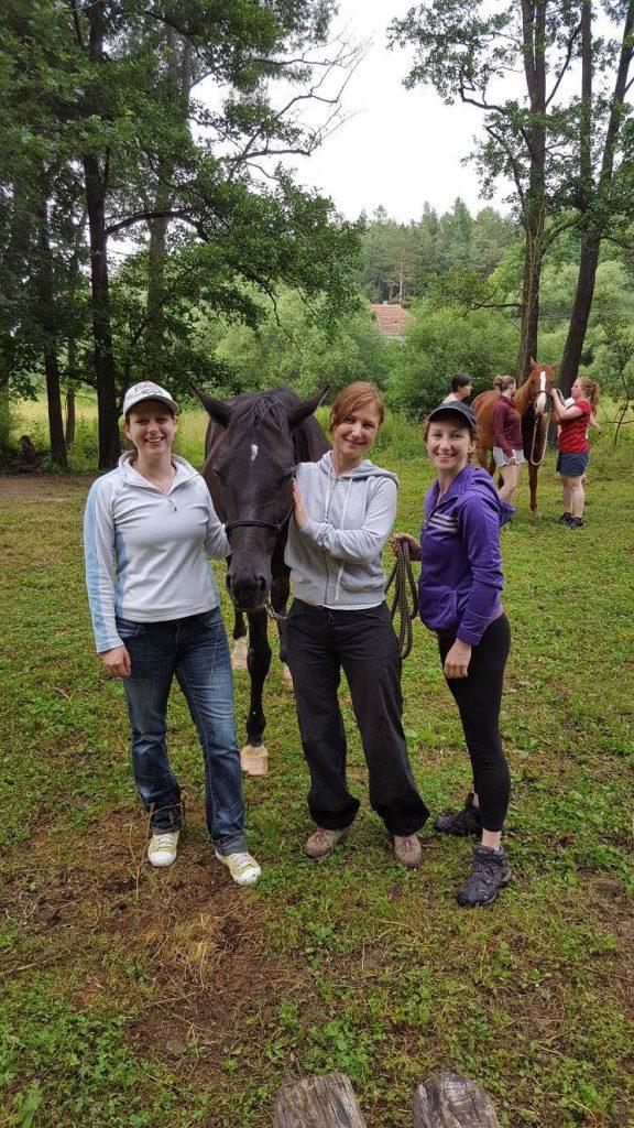 Trénink s koňmi je také zábava